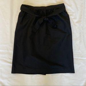 J.Crew Tie-waist skirt in faille-Size 16